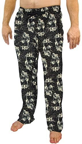 Star Wars Han Solo Chewbacca Pajamas Men's Chewy Speckle AOP Lounge Pants Black