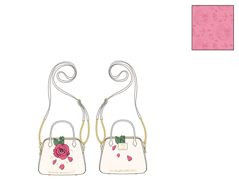 Beauty and the Beast Rose Crossbody Loungefly PRE-ORDER expected late May