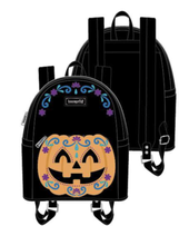 [SET] Halloween Pumpkin Mini Backpack & Wallet [PRE-ORDER - SEPTEMBER DELIVERY] LOUNGEFLY
