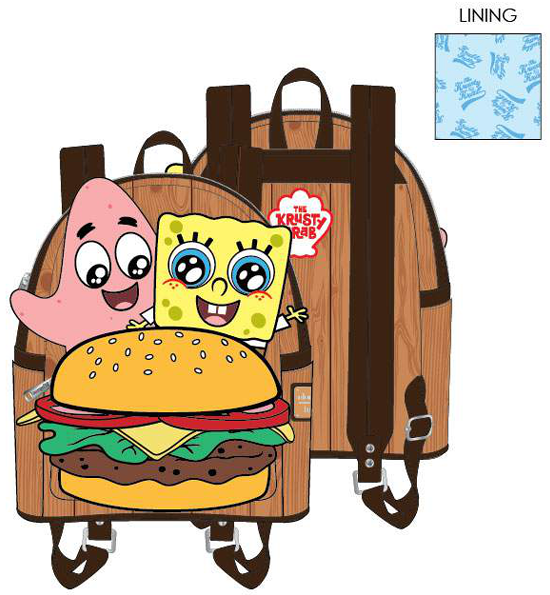 PREORDER Loungefly Spongebob krabby patty mini backpack Expected late June
