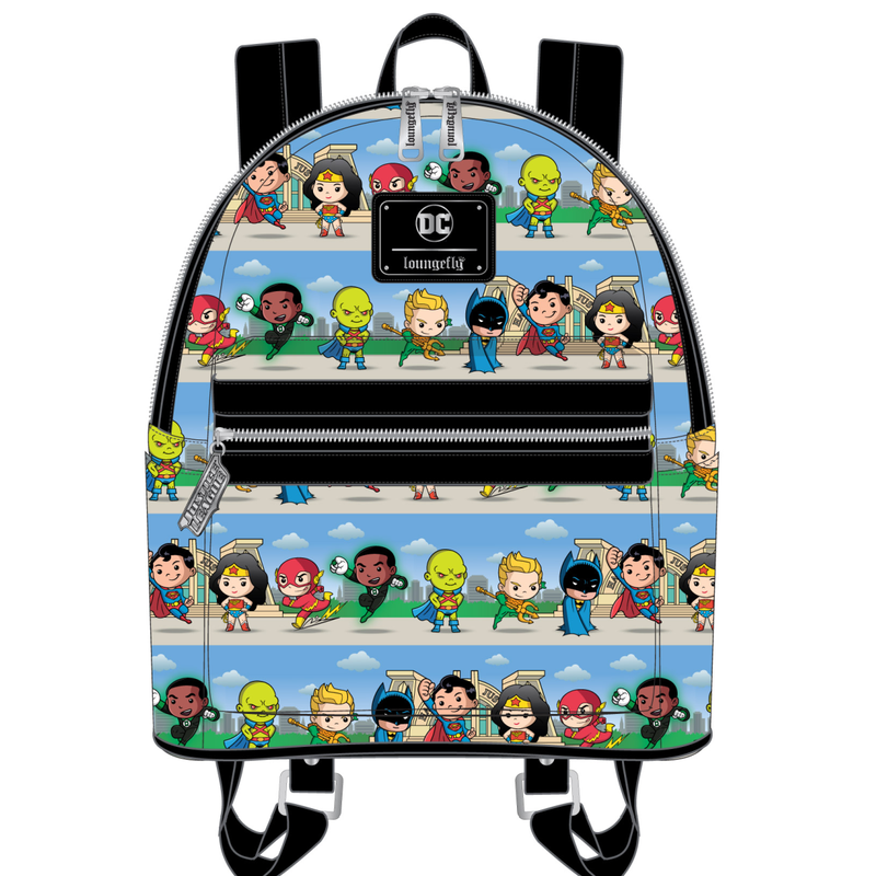 DC Super Heros Chibi Lineup mini Backpack Loungefly PRE-ORDER expected late May