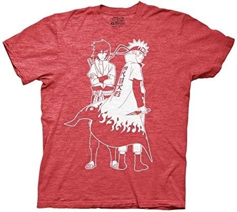 Naruto and Sasuke red t-shirt