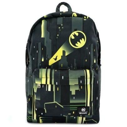 DC Batman Signal Nylon Backpack Full Size Loungefly