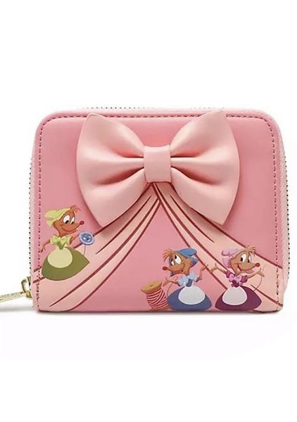 Loungefly Disney Cinderella Pink Dress Dancing Small Zip Wallet