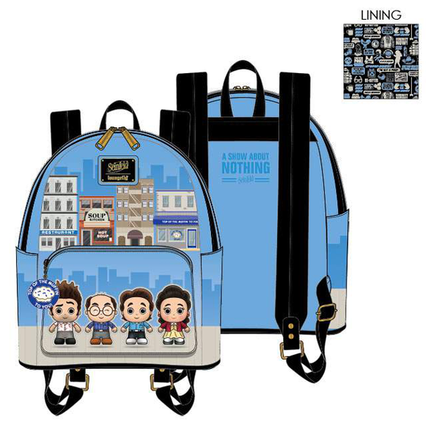 PREORDER Loungefly Seinfeld city mini backpack Expected late June