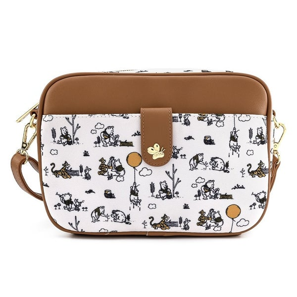 Winnie the Pooh Line Drawing Crossbody Purse Loungefly