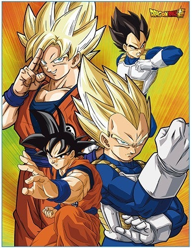DRAGON BALL  BATTLE OF GODS GROUP THROW BLANKET