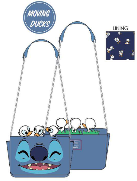 PREORDER Loungefly Disney Lilo and Stitch duckies cosplay crossbody Expected Late June