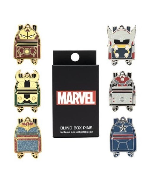 MARVEL WAVE 1 MINI BACKPACK BLIND BOX PINS LOUNGEFLY