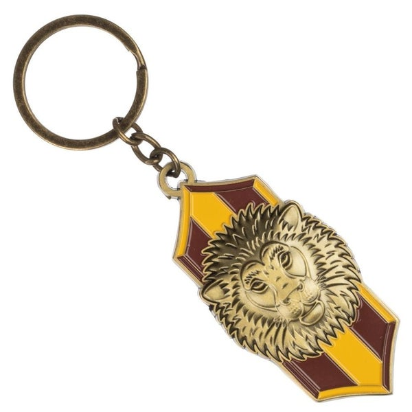 Harry Potter Gryffindor Lion Crest Metal Keychain