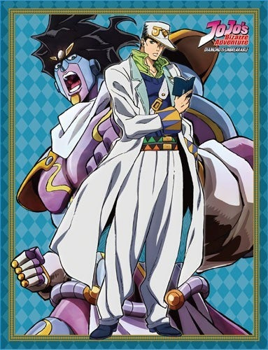 JOJO'S BIZARRE ADVENTURES JOTARO & STAR PLATINUM SUBLIMATED THROW BLANKET