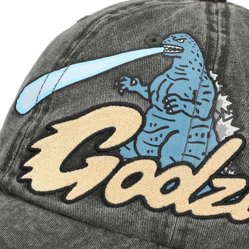 Godzilla Pigment Dyed Embroidered Dad Hat
