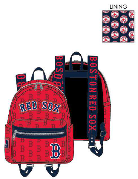 PREORDER Loungefly MLB Boston Red Sox logo mini backpack expected late June