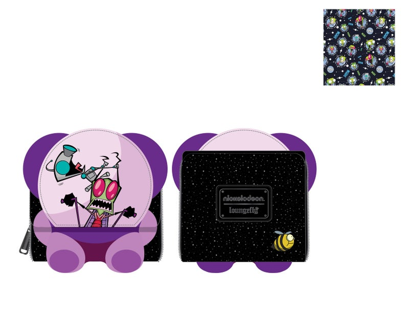 Invader Zim Doom Mobile Trifold Wallet Nickelodeon Loungefly PRE-ORDER