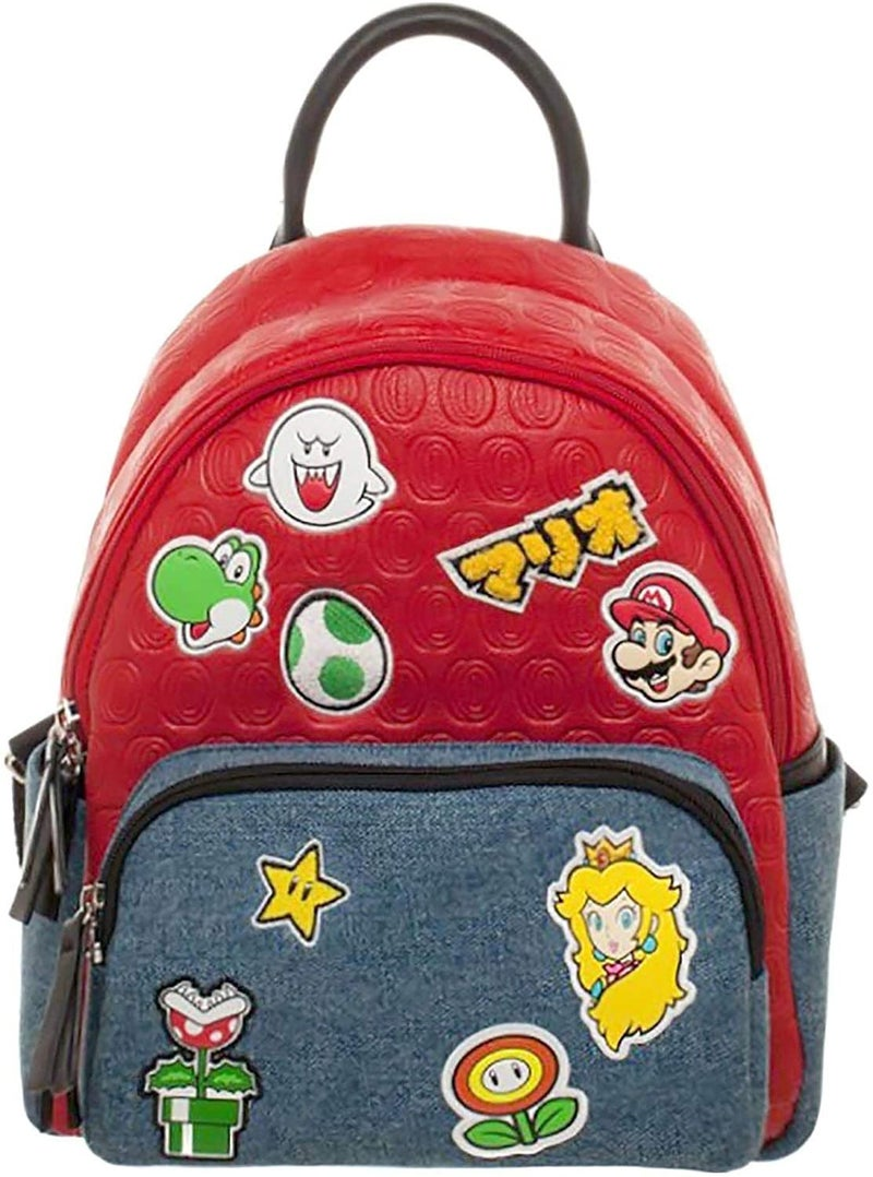 Super Mario Brothers Patches Mini Backpack Bioworld