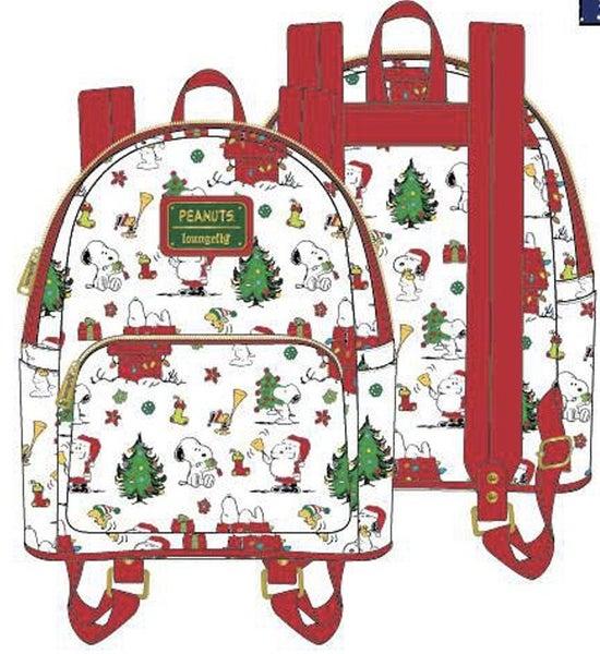 Peanuts Holiday AOP Mini BACKPACK, WALLET & SET options Loungefly PRE-SALE Nov/Dec