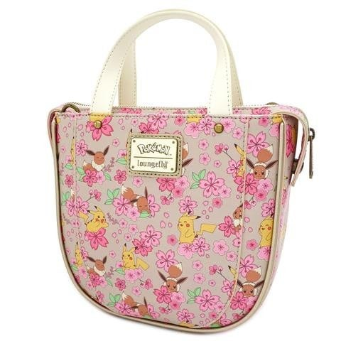 Pokemon Eevee & Pikachu Floral AOP Crossbody Bag  Loungefly