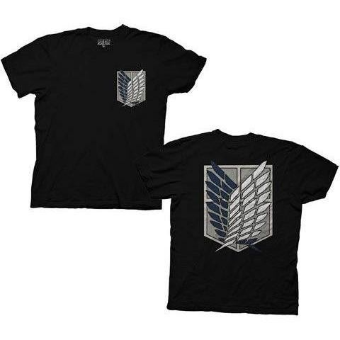 ATTACK ON TITAN SURVEY CORPS (SCOUT REGIMENT) BLACK SHIRT