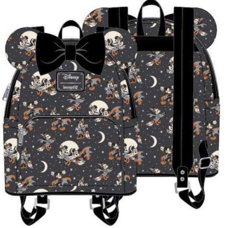 [SET] Mickey Halloween AOP Mini Backpack [PRE-ORDER - SEPTEMBER DELIVERY] LOUNGEFLY