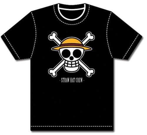 One Piece Luffy Logo Straw Hat Crew T-shirt men's