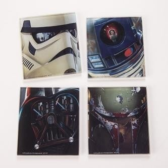 Star Wars 4 pc multicolour glass coaster set