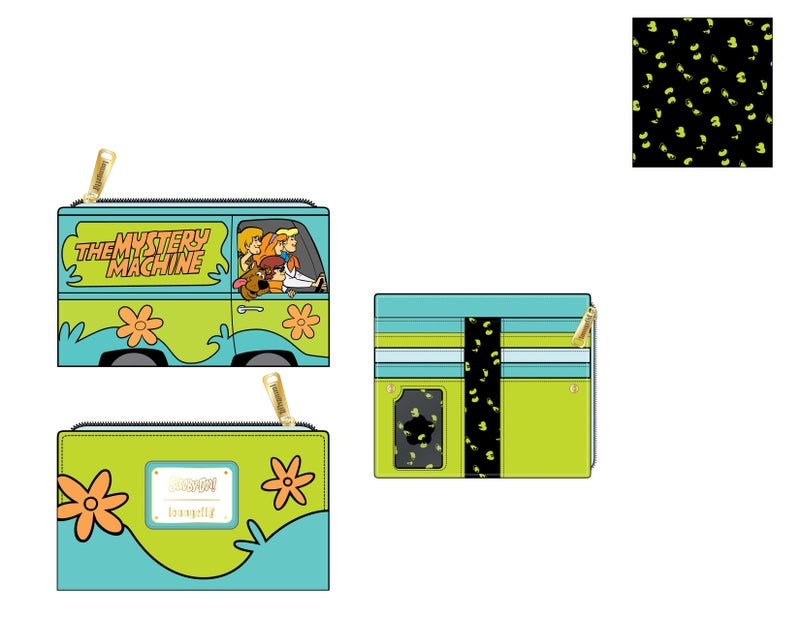 Scooby Doo Mystery Machine Flap Wallet Loungefly PRE-ORDER