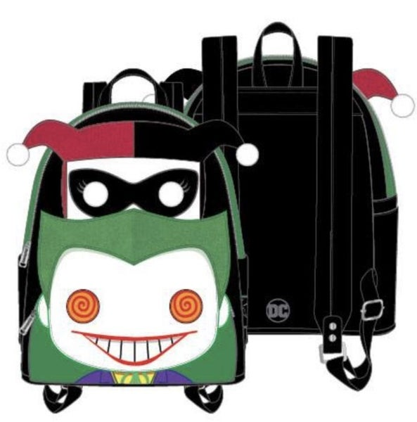 [SET] DC Joker and Harley Mini Backpack POP by LOUNGEFLY [PRE-ORDER - SEPTEMBER DELIVERY] POP by LOUNGEFLY