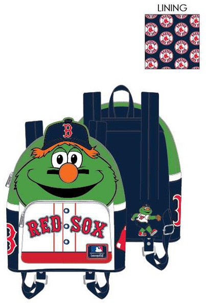 PREORDER Loungefly MLB Boston Red Sox Wally the Green Monster cosplay mini backpack Expected late June