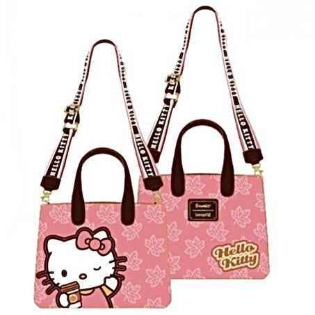 Hello Kitty Spice Latte Wave Crossbody [PRE-ORDER - OCTOBER DELIVERY] LOUNGEFLY
