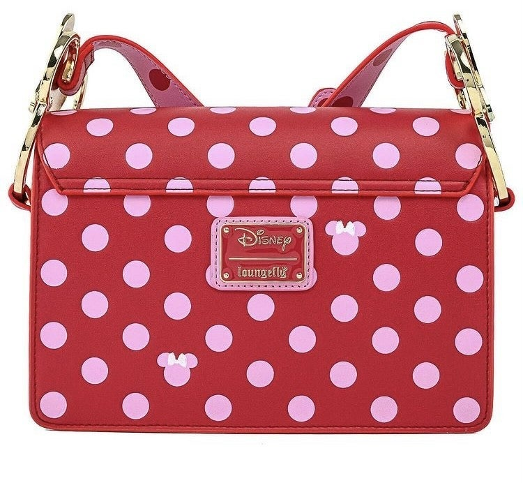 Minnie Mouse Pink Polka Dot Crossbody Disney Love  Loungefly