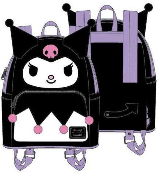 Kuromi Cosplay Wallet Sanrio SET, BAG & WALLET options Loungefly - PRE-ORDER Nov/Dec