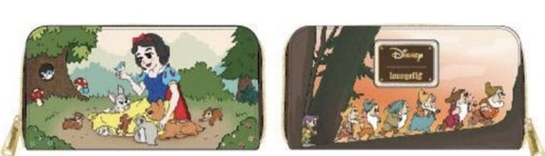 Snow White and the Seven Dwarfs Multi Scene Zip Around Wallet Loungefly - PRE-Order late February