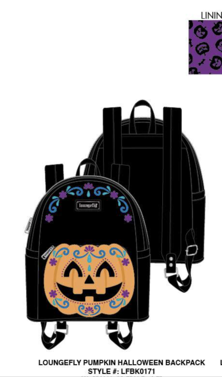 Halloween Pumpkin Mini Backpack [PRE-ORDER - SEPTEMBER DELIVERY] LOUNGEFLY