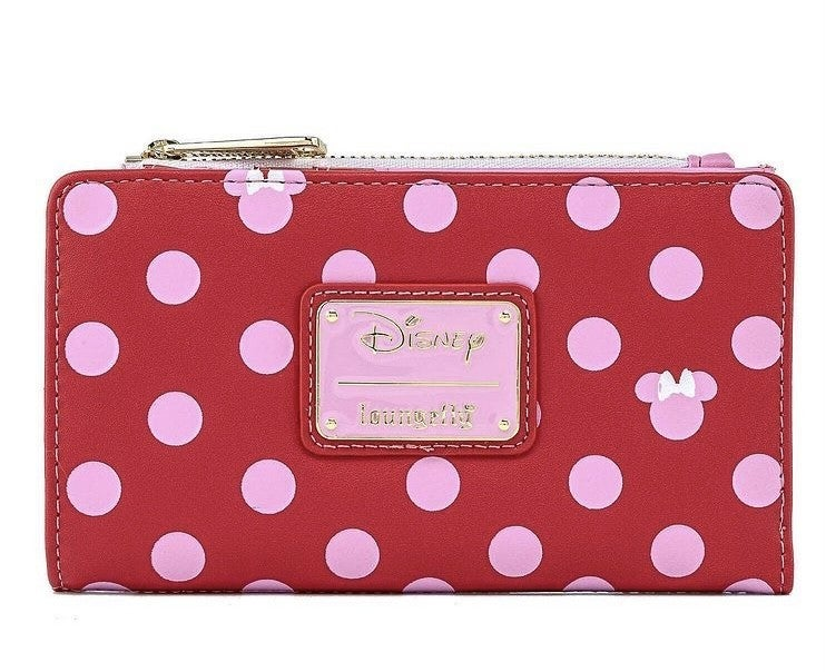 Minnie Mouse Pink Polka Dot Wallet Disney Love Loungefly