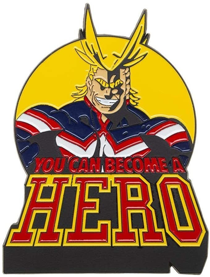 """MY HERO ACADEMIA LARGE 3"""" ALL MIGHT LAPEL PEN"""