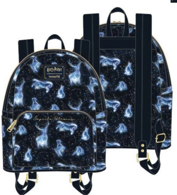Harry Potter Patronus AOP Mini Backpack [PRE-ORDER - SEPTEMBER DELIVERY] LOUNGEFLY