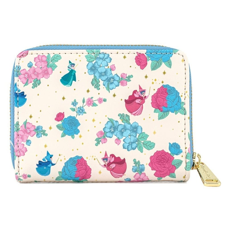 Sleeping Beauty Floral Fairy Godmother AOP Wallet Loungefly P
