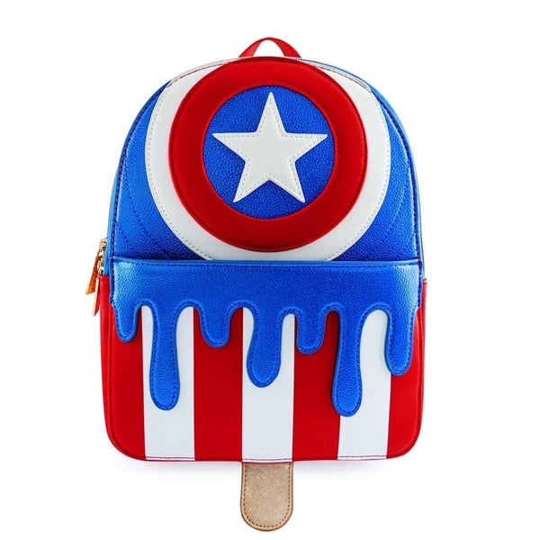 Captain America Melty Popsicle Ice Cream Mini Backpack Danielle Nicole