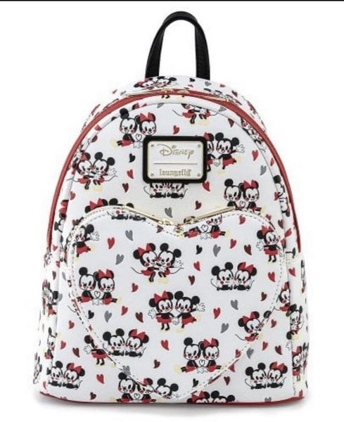 Mickey & Minnie Mouse Heart Love AOP Mini Backpack Disney Loungefly PRE-ORDER Delivery expected late January