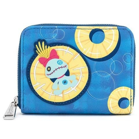 Disney Lilo & Stitch Scrump on Pineapple Zip-Around Wallet Loungefly
