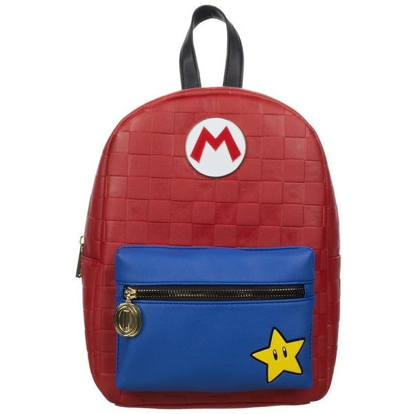 Super Mario Red Checkered Mini Backpack Bioworld (more stock arriving soon)