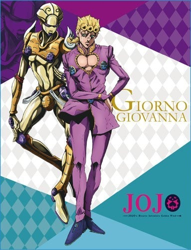 JOJO'S BIZARRE ADVENTURES GIORNO GOLDEN WIND SUBLIMATED THROW BLANKET