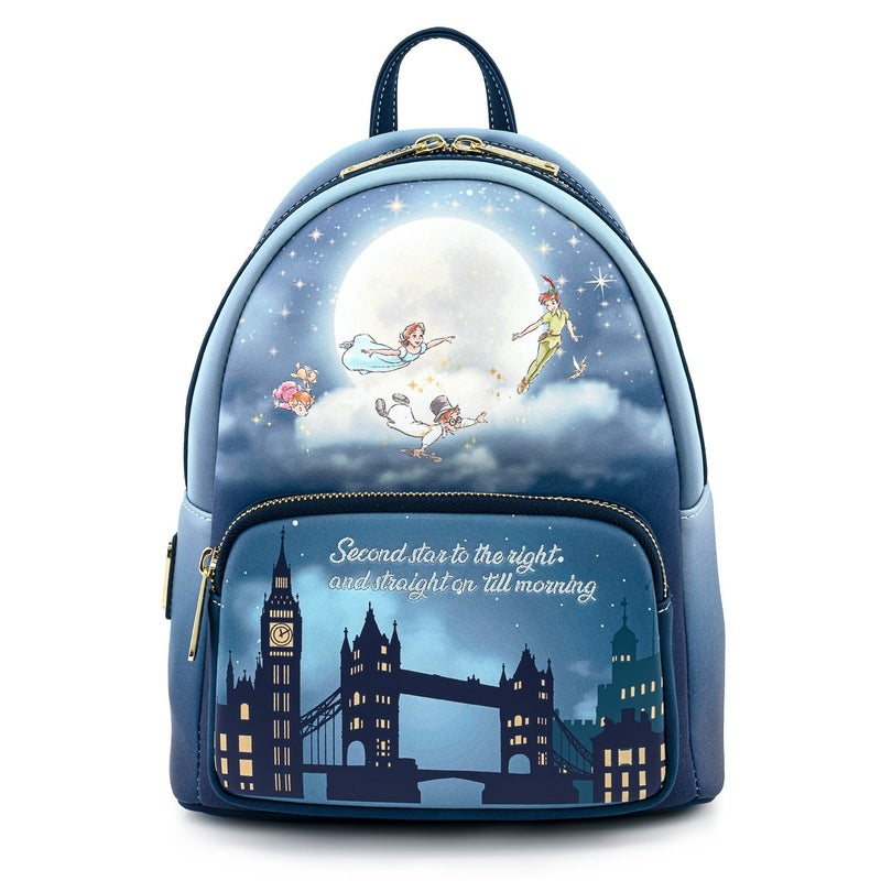 Peter Pan Second Star Mini Backpack  Glow in the Dark Stars Loungefly