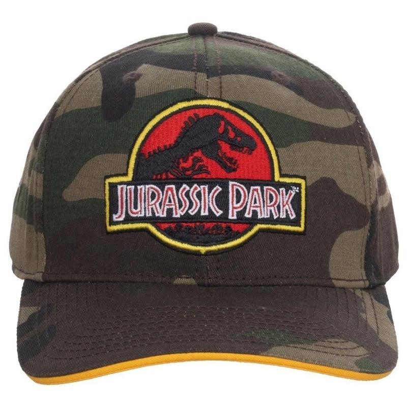 Jurassic Park Camo Pre-Curved Snapback