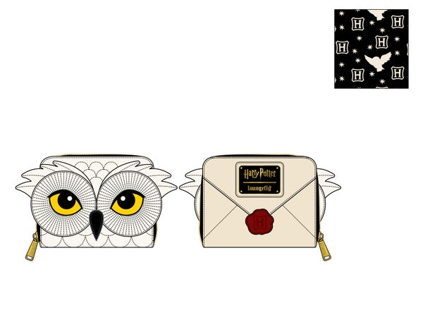 Harry Potter Hedwig Howler zip around Wallet Loungefly PRE-ORDER