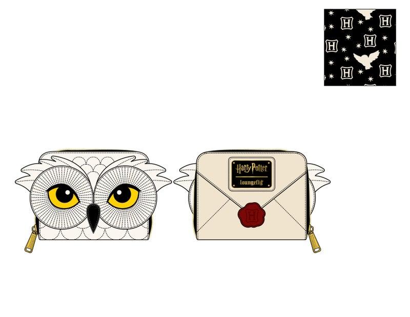 Harry Potter Hedwig Howler zip around Wallet Loungefly PRE-ORDER