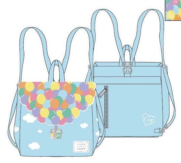 Up Balloon House Flap BACKPACK, WALLET & SET Options PRE-ORDER Nov/Dec