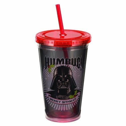 Star Wars 18 Oz Acrylic Travel Cup Darth Vader Humbug