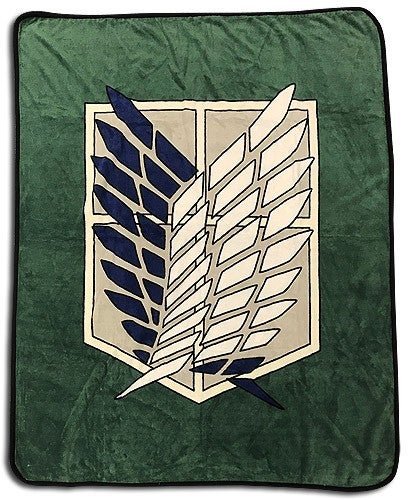 ATTACK ON TITAN SCOUT REGIMENT THROW BLANKET