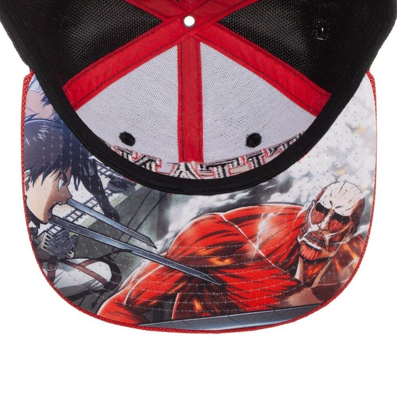 Attack on Titan Embroidery Snapback Cap